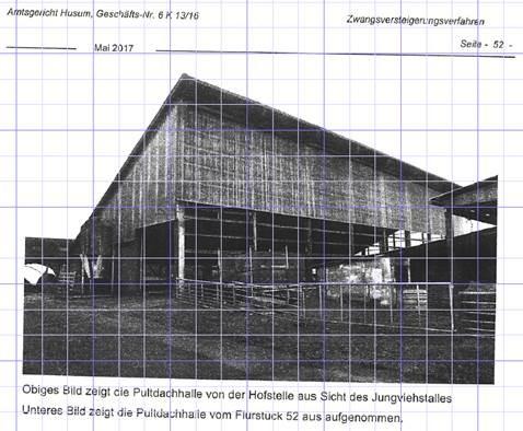 Amtsgericht Husum_Verkehrswertgutachten Pultdachhalle mit Null Euro